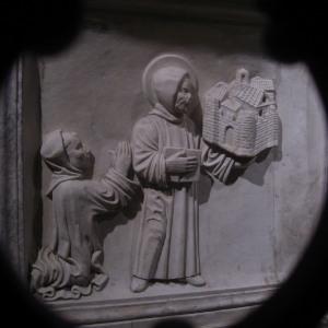 Sarcofago di San Colombano, particolare